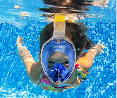 Full Face Diving Snorkel Snorkeling Mask Swimming Goggles Anti-Fog Mask Easybre