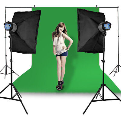 3x 2.7m Photo Studio Backdrop Background Support Stand Kit with Carrying Case UK