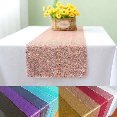 30x180cm Sparkly Sequin Table Runners Bling Coths for Wedding Table Party Birth