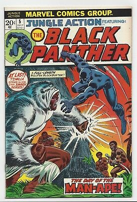 Marvel Comics: Jungle Action #5 - 1St Black Panther In Title (1973)