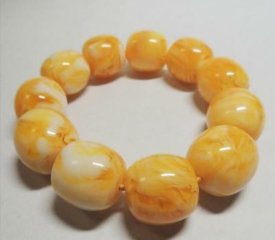 Certificat Vintage Natural BALTIC AMBER Beeswax Fashion Men's Fine Bracelet
