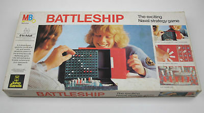 Vintage Battleships Board Game - John Sands COMPLETE
