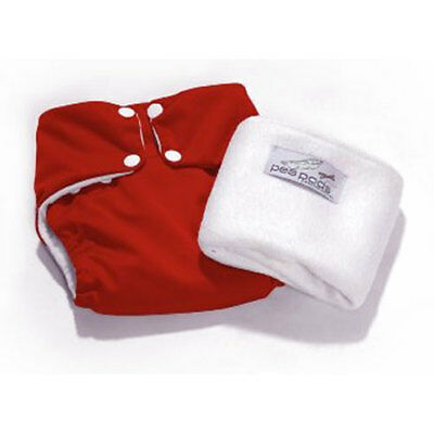 Pea Pods Reusable Nappy ONE SIZE Red NEW