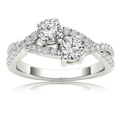 2Ct White Brillaint Cut Diamond Wedding Engagement Ring In 925 Sterling Silver
