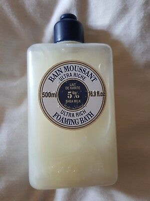 L'OCCITANE ULTRA RICH FOAMING BATH with 5% Shea ~ Supersize 500ml ~ New Stock