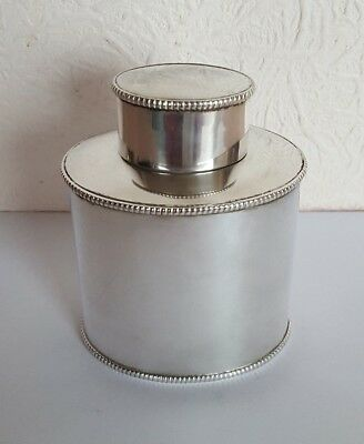 Antique Silver Plate TEA CADDY - 10cm High