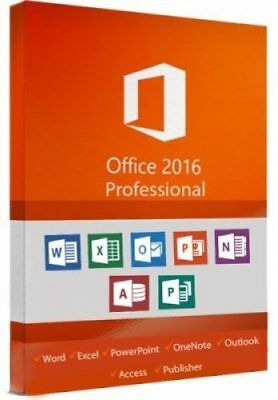 NUR HEUTE Office 2016 Professional Plus Lizenz ✔ + GRATIS Installation DVD ✔