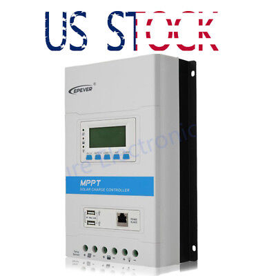 US EPEVER TRIRON3210N 30A MPPT Solar Charge Controller LCD Dual USB RS485