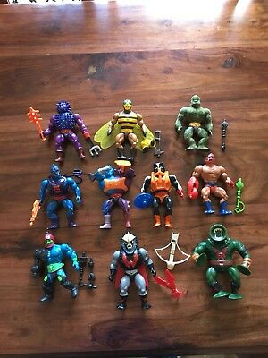 VINTAGE MASTERS OF THE UNIVERSE FIGURES HE MAN 10x figure lot