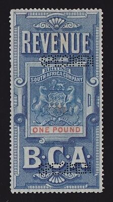 BRITISH CENTRAL AFRICA 1891 Revenue Arms £1 SPECIMEN EXTREMELY RARE!