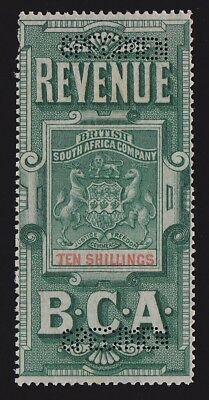BRITISH CENTRAL AFRICA 1891 Revenue Arms 10/- SPECIMEN EXTREMELY RARE!