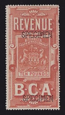 BRITISH CENTRAL AFRICA 1891 Revenue Arms £10 SPECIMEN EXTREMELY RARE!