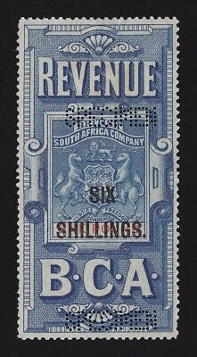 BRITISH CENTRAL AFRICA 1893 Revenue Arms 6/- on £1 SPECIMEN EXTREMELY RARE!