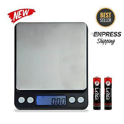 Digital Kitchen Scale Electronic Food Weighing Stainless Steel Scales Measuring