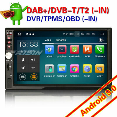 Android 8.0 Universal Double 2DIN Car GPS Stereo Sat Nav DAB+ OBD DTV-IN WiFi 4G