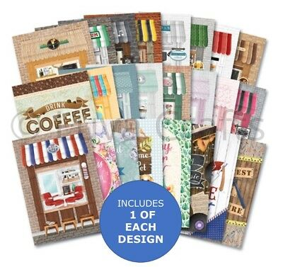 Hunkydory Little Book of High Street - Sample Pack 24 sheets x A6 150 gsm