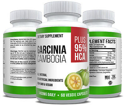 Pure Garcinia Cambogia Extract Max Strength 95% HCA Weight Loss Supplement