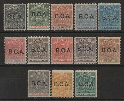 BRITISH CENTRAL AFRICA 1891 BCA overprinted Arms 1d to 10/-
