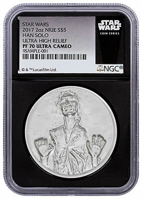 Details about  2017 Star Wars Classic Han Solo UHR 2 oz Silver $5 NGC PF70 UC B