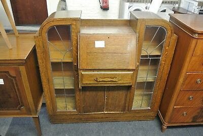 Vintage Retro Wooden Writing Bureau (No key)