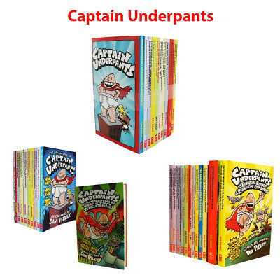 Captain Underpants books Dav Pilkey Collection Set Children Pack