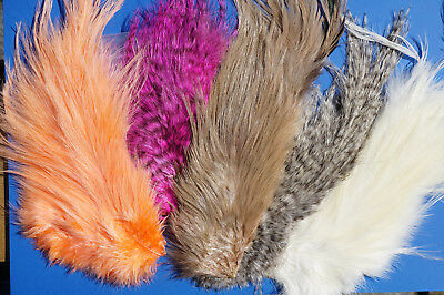 Whiting Bird Fur 5 Farben Auswahl Streamer Leaches Bugger Shrimp & More