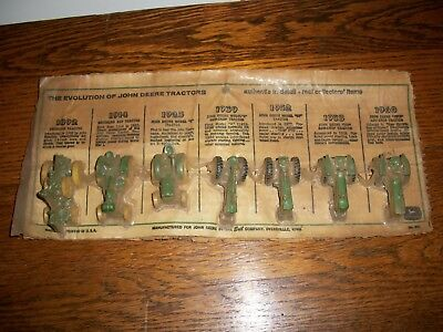 Ertl The Evolution Of John Deere Tractors On Original Card Sealed