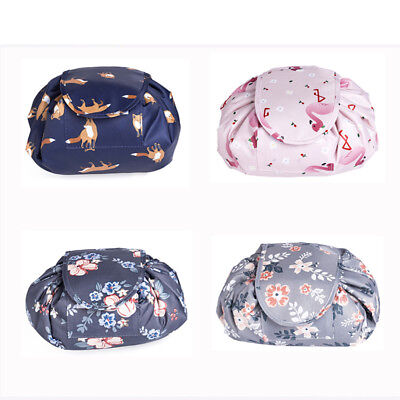 Cosmetic Drawstring Women Bag Magic Make Up Pouch Large Travel Capacity Storage