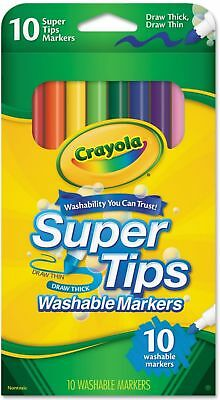 Crayola Super Tip Markers Washable 10 ea (Pack of 3)