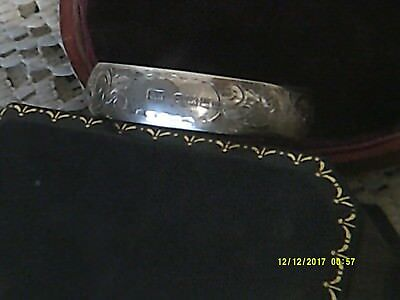 Antique Sterling Silver Chased Napkin Ring,birmingham 1911,maker 'f.w'