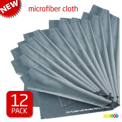 12-Pack Microfiber Cleaning Cloth LCD Screen Lens Camera Eyeglasses Glasses 8x8""