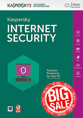 Kaspersky Internet Security 2018 1 PC / User / 1 Year / Antivirus / Download