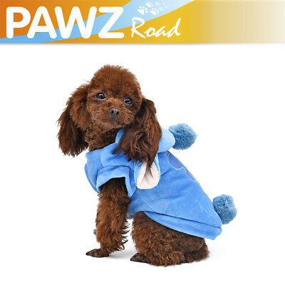 STITCH Small Dog Cute Clothes Costume Size L Warm Dog Coat Puppy Apparel Hoodie