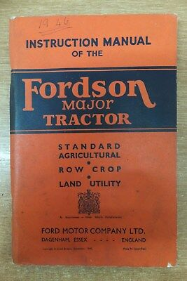 fordson major E27N tractor original instruction manual book vintage tractor