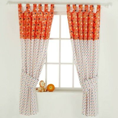 Pair of Cotton Tail Nursery Curtains Red Kite New UK SELLER