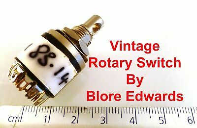 Blore Edwards MBK Rotary Wafer Switch 4 Pole 3 Position 2A Milspec Parts MBL3-81
