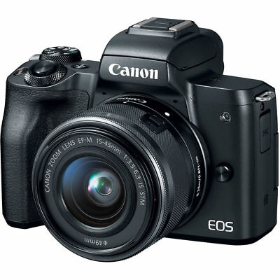Canon EOS M50 Mirrorless Digital Camera with 15-45mm Lens (Black) PX