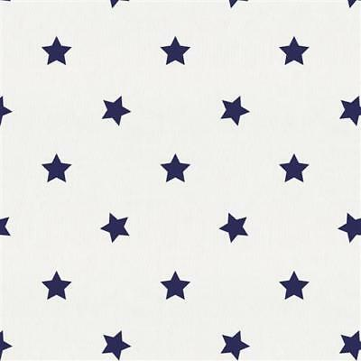 Pottery Barn Kids Star Flannel Crib Fitted Sheet ~ Navy Blue