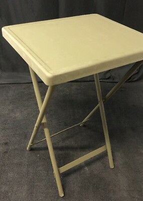 "NEW Military Green Metal Folding Bedside Table 27"" Tall 6530-00-708-9060"