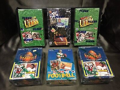 1992 / 1993 Mixed Lot of Fleer & Ultra Football  - 36ct Boxes - Factory Sealed