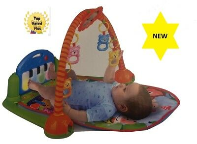 Baby Play and Kick Piano Gym, Play Mat Interactive Activity,Sit and Play - New