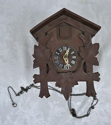 Vintage German Wooden Regula Black Forest Wall Cuckoo Clock Parts & Repair