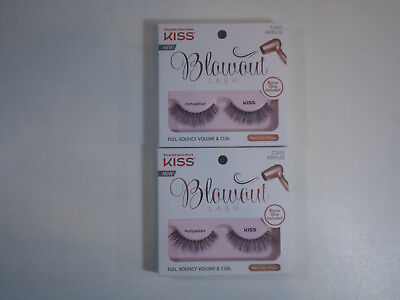 (2 Pairs) KISS BLOWOUT LASHES POMPADOUR 72455 KBWL02 fake eye lashes