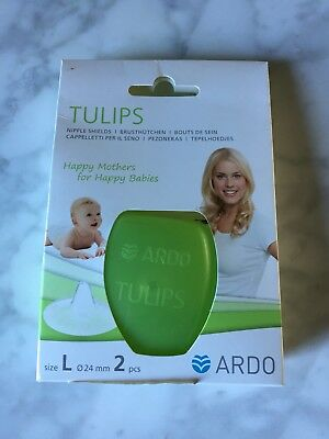 BNIB Ardo Tulip Nipple Shields (Large 24mm)
