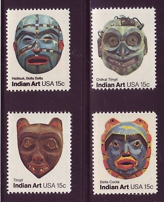 #1834-1837S Indian Masks. Wholesale Lot Of (50) Sets Of Mint Singles.  F-Vf Nh!