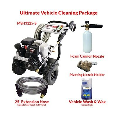 MegaShot 3200 PSI Pressure Washer Ultimate Vehicle Cleaning Package