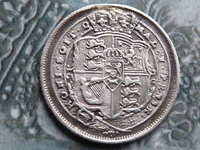 sixpence coin 1816 high grade slight scrape to top of crown reverse