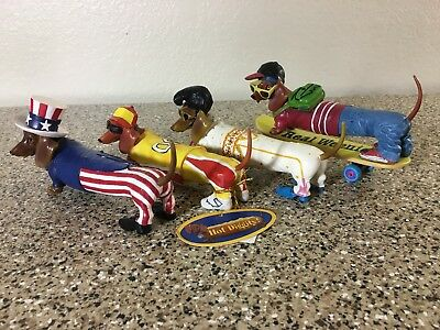 """(Lot of 4) Westland Hot Diggity Dachshund Figurines """"Excellent Condition"""""""