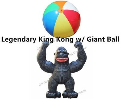 Inflatable Gorilla Legendary King Kong 8 Feet H w/ Giant Beach Ball Special Cont