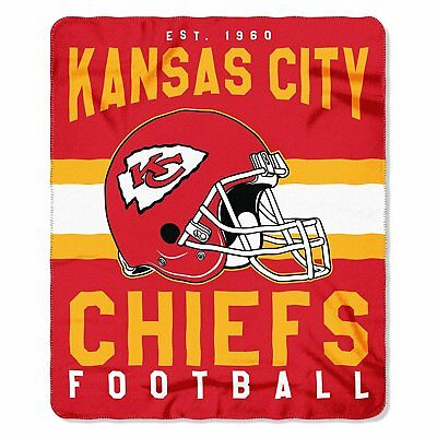 Kansas City Chiefs Football Fleece Throw Blanket New Design 50'' x 60''